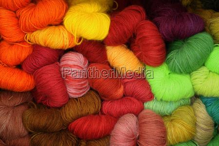 grande collezione di diversi lana di