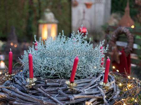 giardino inverno avvento candele giardini ghirlanda