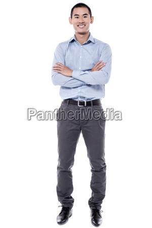 studio, shot, di, giovane, uomo - 16327089