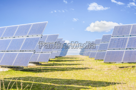 solar panels to produce green energy