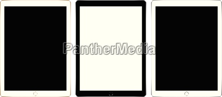 mock up white tablet isolated on