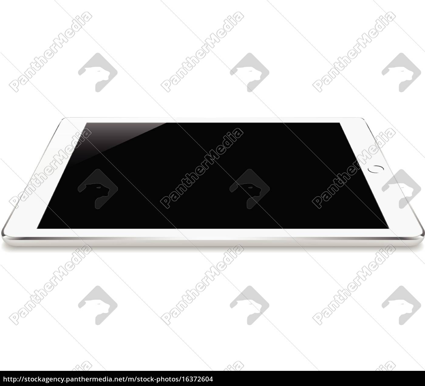 mock, up, bianco, tablet, angolo, prospettico - 16372604