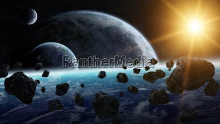 impatto di meteoriti sul pianeta terra
