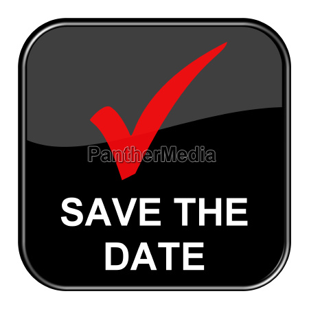 black button shows save the date