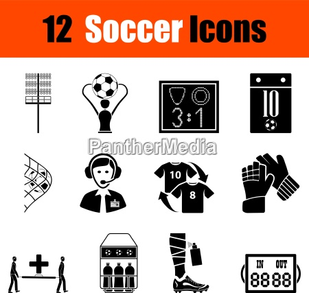set of soccer icons