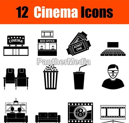 set, di, icone, del, cinema - 16623310
