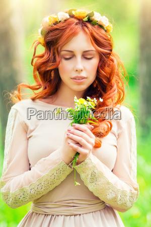 primavera vestirsi ragazza ragazze foresta abito