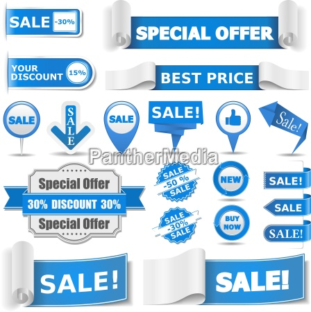 bandiere blu di vendita