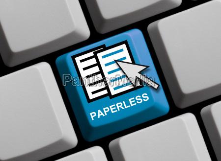 ufficio digitale amministrazione carta lenzuola senza