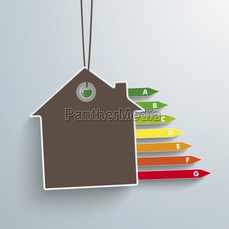 illustrazione vettoriale casa ed energia passaggio