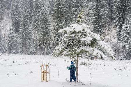 germany bavaria berchtesgadener land boy with