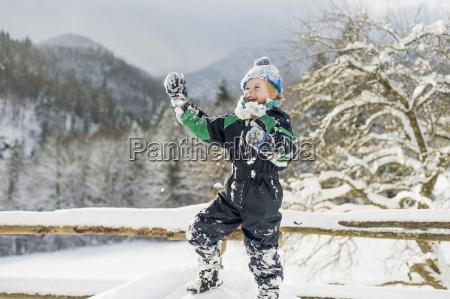 germany bavaria berchtesgadener land happy boy