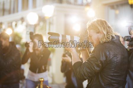 caucasico europeo orizzontale macchina fotografica allaperto