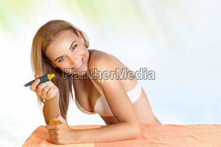 donna estate tintarella concia cura della