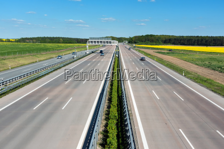 a highway in germany with little