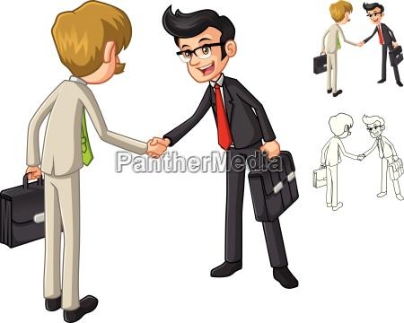 luomo daffari shake hands poses con