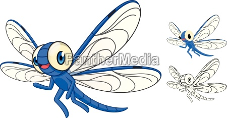 di alta qualita dettagliato libellula cartoon