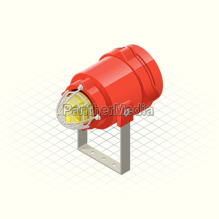 isometric beacon a safety equipment vector