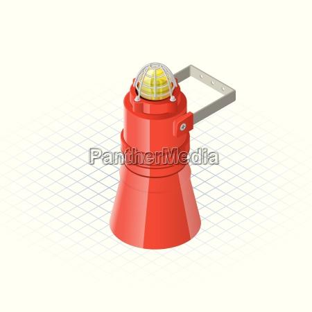 isometric beacon with loudspeaker alarm horn