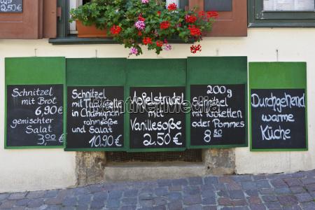 ristorante scrivere tipografia germania allaperto lavagna