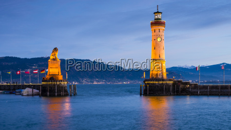 germany bavaria lindau lake constance harbour