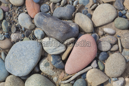 river rocks on a bank of