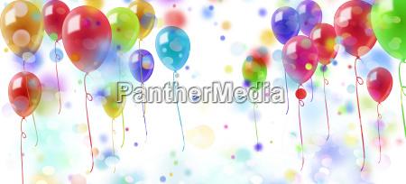 palloncini coriandoli colorati