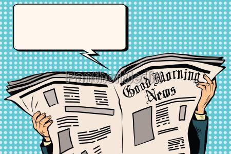 giornale di stampa leggere notizie