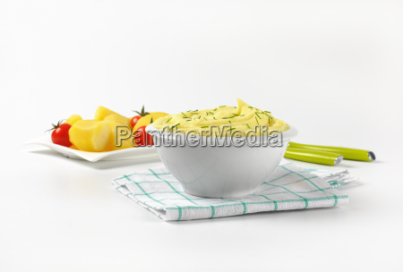 mashed potatoes with chives