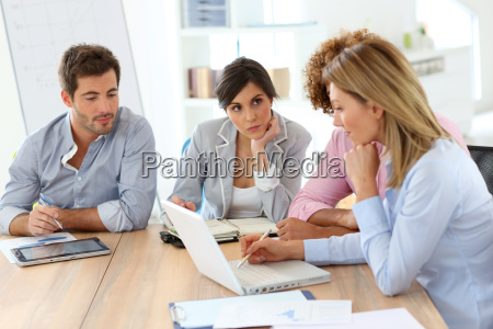 young business people in a meeting