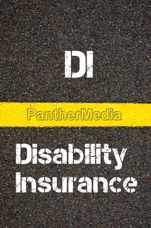 business acronym di disability insurance