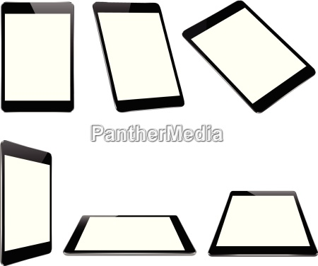 vector design mock up black tablet