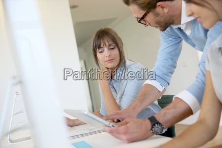 business people working in office meeting