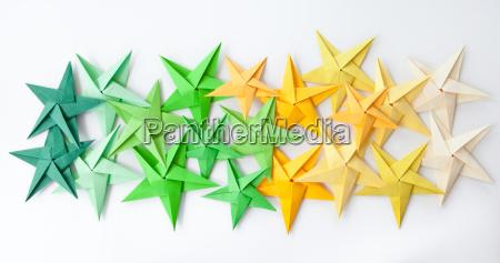 stelle colorate di origami
