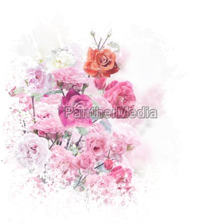 foglia arte fiore pianta rosa fioritura