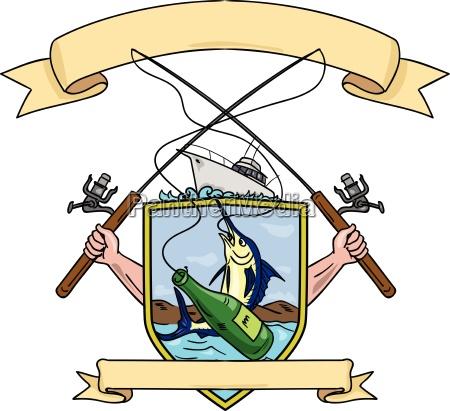 fishing rod reel blue marlin fish