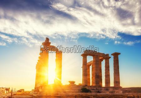 rovine del tempio di poseidone