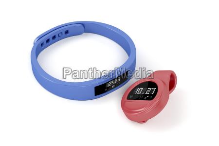 wristband e inseguitori attivita di clip