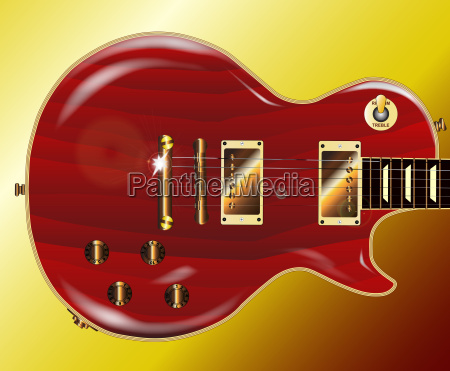red grained guitar