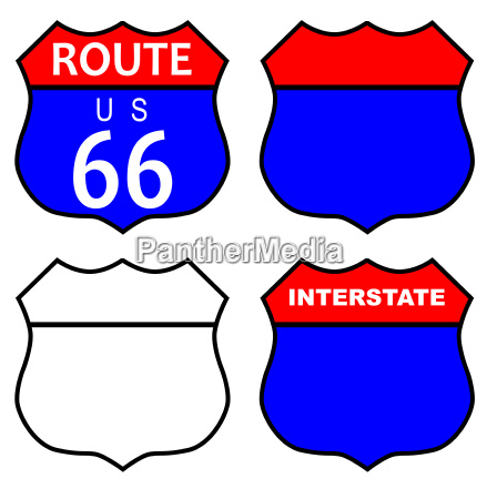 route 66 interstate sign