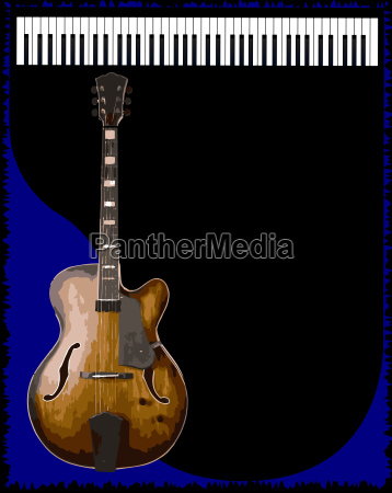 guitar and piano background
