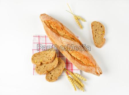 cibo pane sano lungo panino rosetta