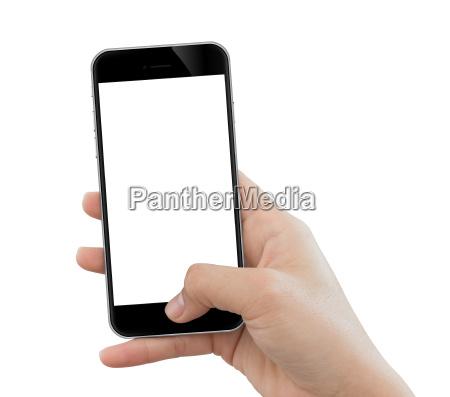primo, piano, telefono, cellulare, uso, mano - 18059278