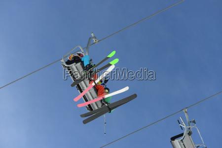 portrait of teenagers on skiing holiday