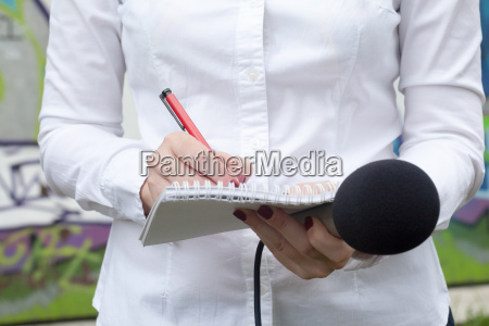 journalist news conference