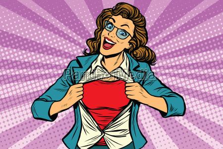 super eroe donna donna strappo camicia