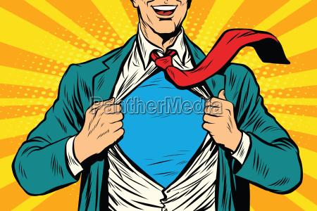 uomo daffari maschile super eroe