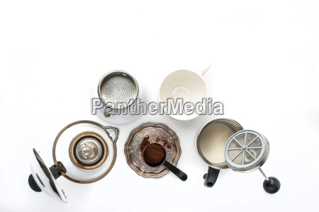 equipment for preparation coffee on