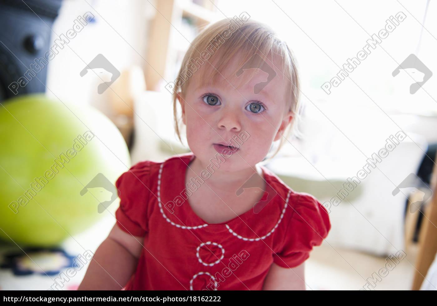 primo, piano, di, bambino, ragazza, ?s - 18162222