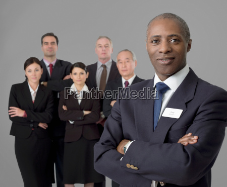 portrait of a senior black businessman